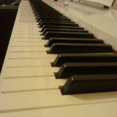 J'ai un piano blanc.
